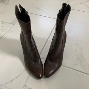 NWT Nine West Women's Brown Leather Boots Size 9.5